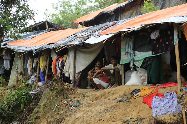 Flüchtlinge im Balukhali Refugee Camp.